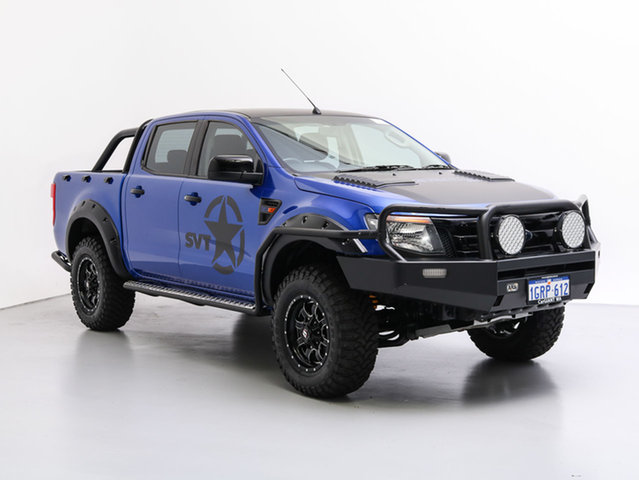 Used Ford Ranger PX XL 3.2 (4x4), 2014 Ford Ranger PX XL 3.2 (4x4) Blue 6 Speed Automatic Dual Cab Utility