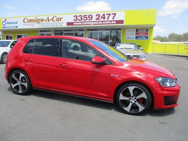 Used Volkswagen Golf VII MY14 GTI DSG, 2013 Volkswagen Golf VII MY14 GTI DSG Red 6 Speed Sports Automatic Dual Clutch Hatchback