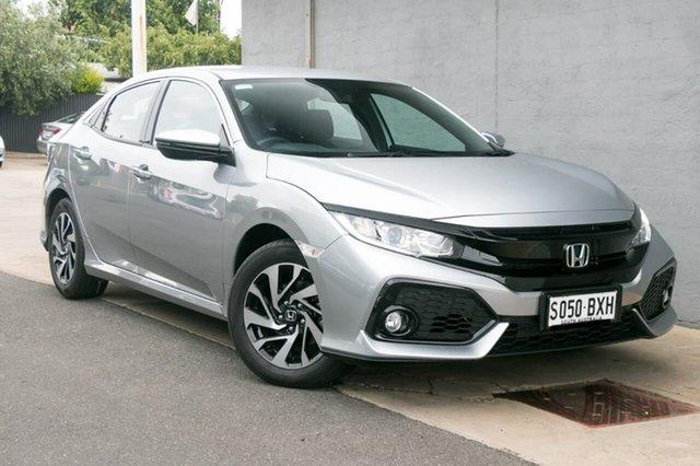 Demo Honda Civic 10th Gen MY18 VTi-S, 2018 Honda Civic 10th Gen MY18 VTi-S Lunar Silver 1 Speed Constant Variable Hatchback