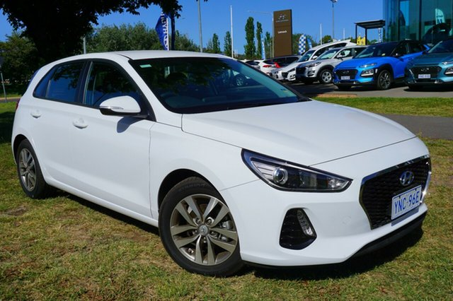 Demo Hyundai i30 PD2 MY19 Active D-CT, 2018 Hyundai i30 PD2 MY19 Active D-CT Polar White 7 Speed Sports Automatic Dual Clutch Hatchback