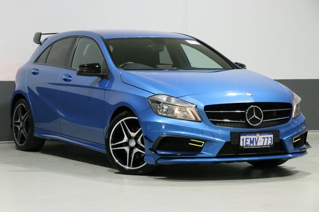Used Mercedes-Benz A180 176 MY14 BE, 2014 Mercedes-Benz A180 176 MY14 BE Blue 7 Speed Automatic Hatchback