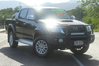 2011 Toyota Hilux KUN26R MY12 SR5 Double Cab Black 4 Speed Automatic Utility.