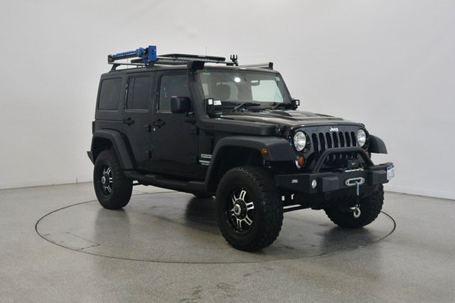 Used Jeep Wrangler JK MY2011 Unlimited Sport, 2011 Jeep Wrangler JK MY2011 Unlimited Sport Black 6 Speed Manual Softtop