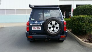 2004 Nissan Patrol GU IV MY05 ST Blue 4 Speed Automatic Wagon.