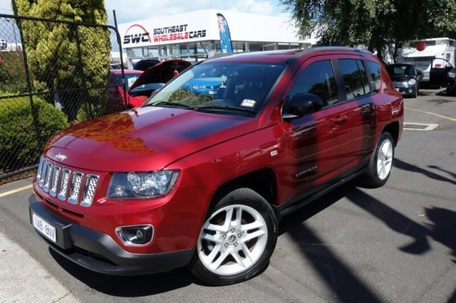 Used Jeep Compass MK MY14 Limited, 2013 Jeep Compass MK MY14 Limited Red 6 Speed Sports Automatic Wagon
