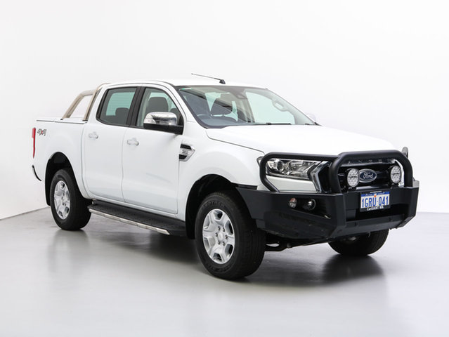 Used Ford Ranger PX MkII MY18 XLT 3.2 (4x4), 2017 Ford Ranger PX MkII MY18 XLT 3.2 (4x4) White 6 Speed Automatic Dual Cab Utility