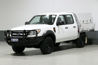 2011 Ford Ranger PK XL (4x4) White 5 Speed Automatic Dual Cab Chassis.