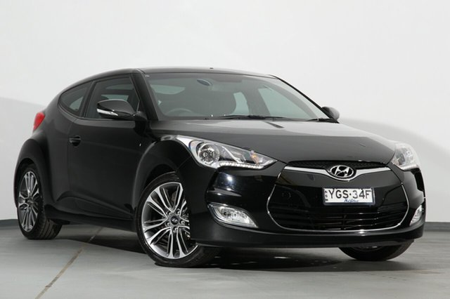 Used Hyundai Veloster FS5 Series II Coupe D-CT, 2017 Hyundai Veloster FS5 Series II Coupe D-CT Black 6 Speed Sports Automatic Dual Clutch Hatchback