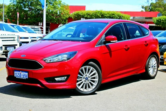 Used Ford Focus LZ Sport, 2017 Ford Focus LZ Sport Red 6 Speed Manual Hatchback