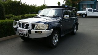 2004 Nissan Patrol GU IV MY05 ST Blue 4 Speed Automatic Wagon