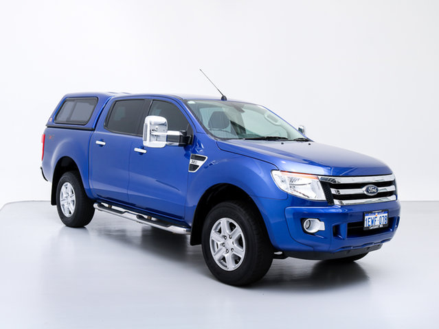 Used Ford Ranger PX XLT 3.2 (4x4), 2015 Ford Ranger PX XLT 3.2 (4x4) Blue 6 Speed Automatic Dual Cab Utility