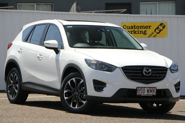 Used Mazda CX-5 KE1032 Akera SKYACTIV-Drive AWD, 2016 Mazda CX-5 KE1032 Akera SKYACTIV-Drive AWD White 6 Speed Sports Automatic Wagon
