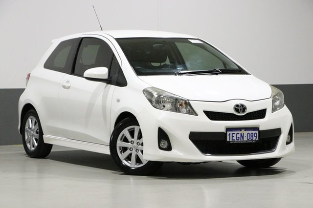 Used Toyota Yaris NCP130R YR, 2012 Toyota Yaris NCP130R YR White 5 Speed Manual Hatchback