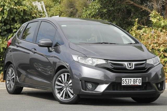 Used Honda Jazz GF MY15 VTi-L, 2015 Honda Jazz GF MY15 VTi-L Modern Steel 1 Speed Constant Variable Hatchback