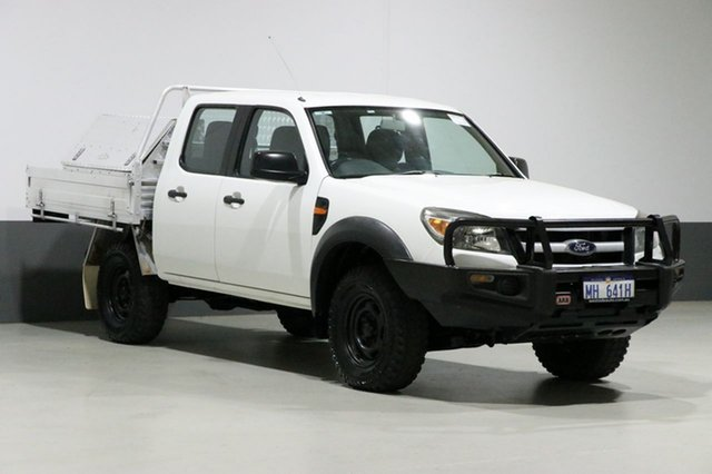 Used Ford Ranger PK XL (4x4), 2011 Ford Ranger PK XL (4x4) White 5 Speed Automatic Dual Cab Chassis