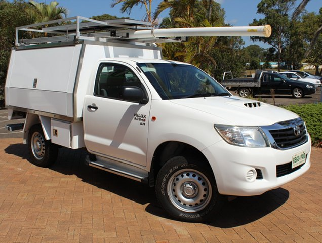 Used Toyota Hilux KUN26R MY14 SR, 2014 Toyota Hilux KUN26R MY14 SR 5 Speed Manual Cab Chassis