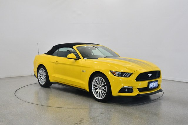 Used Ford Mustang FM 2017MY GT SelectShift, 2016 Ford Mustang FM 2017MY GT SelectShift Yellow 6 Speed Sports Automatic Convertible