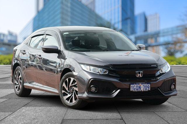 Demo Honda Civic 10th Gen MY18 VTi-S, 2018 Honda Civic 10th Gen MY18 VTi-S Modern Steel 1 Speed Constant Variable Hatchback