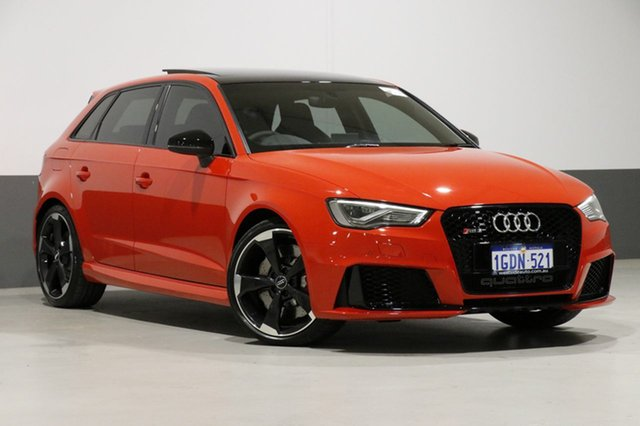 Used Audi RS 3 8V Sportback Quattro, 2016 Audi RS 3 8V Sportback Quattro Red 7 Speed Auto Dual Clutch Hatchback