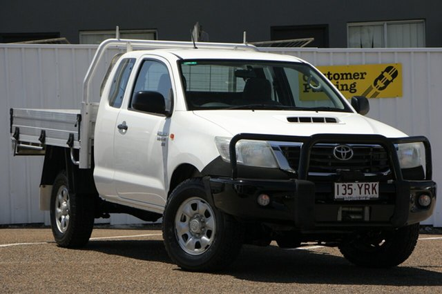 Used Toyota Hilux KUN26R MY12 SR Xtra Cab, 2013 Toyota Hilux KUN26R MY12 SR Xtra Cab White 5 Speed Manual Cab Chassis