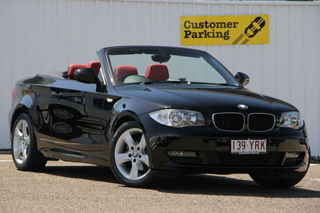 Used BMW 120i E88 MY10 , 2010 BMW 120i E88 MY10 Black 6 Speed Automatic Convertible