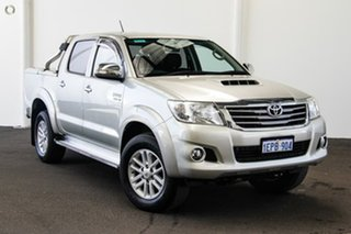 2014 Toyota Hilux KUN26R MY14 SR5 Double Cab Sterling Silver 5 Speed Manual Utility.