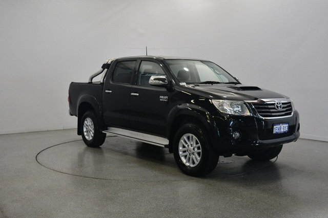 Used Toyota Hilux KUN26R MY12 SR5 Double Cab, 2013 Toyota Hilux KUN26R MY12 SR5 Double Cab Black 5 Speed Manual Utility