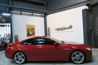 2012 BMW 640i F13 MY0312 Steptronic Red 8 Speed Sports Automatic Coupe.
