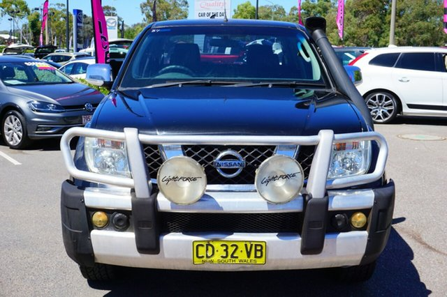 Used Nissan Navara D40 ST-X, 2009 Nissan Navara D40 ST-X Black 6 Speed Manual Utility