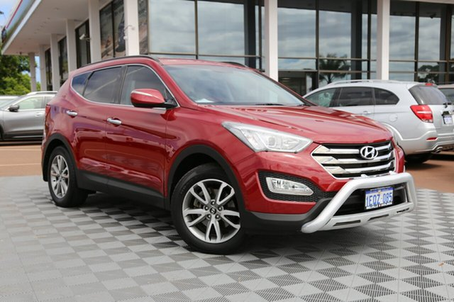 Used Hyundai Santa Fe DM MY13 Elite, 2012 Hyundai Santa Fe DM MY13 Elite Red/Black 6 Speed Sports Automatic Wagon