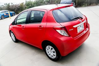 2012 Toyota Yaris NCP130R YR Red 4 Speed Automatic Hatchback.