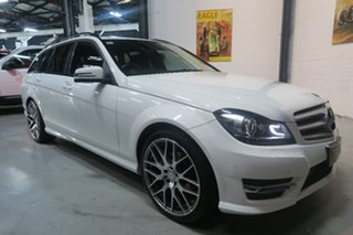 2014 Mercedes-Benz C200 W204 MY14 Avantgarde Estate 7G-Tronic + White 7 Speed Sports Automatic Wagon