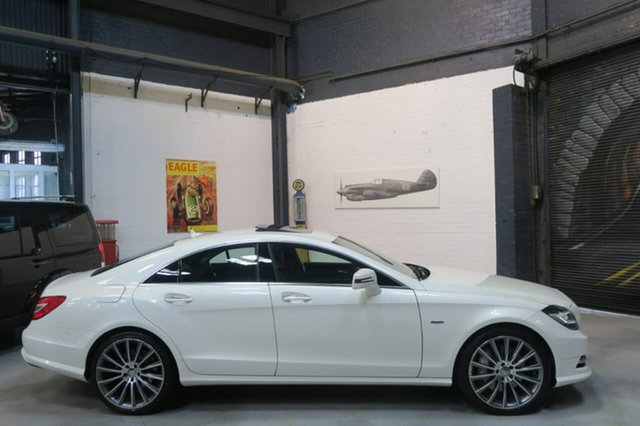 Used Mercedes-Benz CLS500 C218 BlueEFFICIENCY Coupe 7G-Tronic, 2012 Mercedes-Benz CLS500 C218 BlueEFFICIENCY Coupe 7G-Tronic White 7 Speed Sports Automatic Sedan
