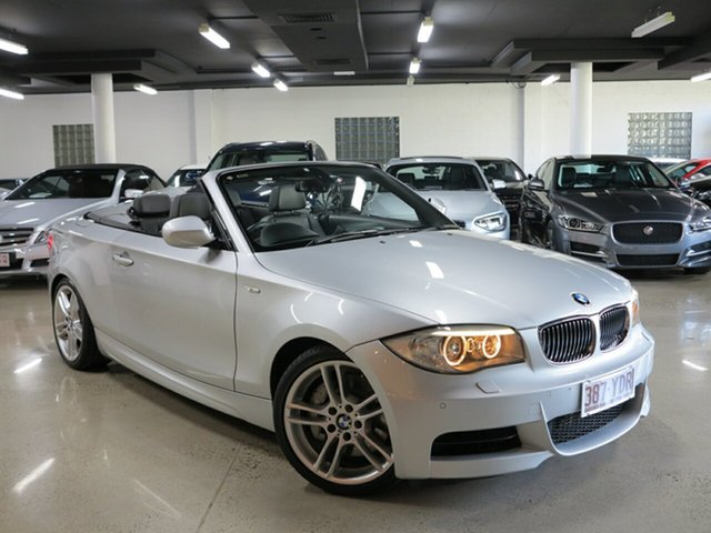 Used BMW 1 Series E88 LCI MY0911 135i D-CT, 2012 BMW 1 Series E88 LCI MY0911 135i D-CT Silver 7 Speed Sports Automatic Dual Clutch Convertible