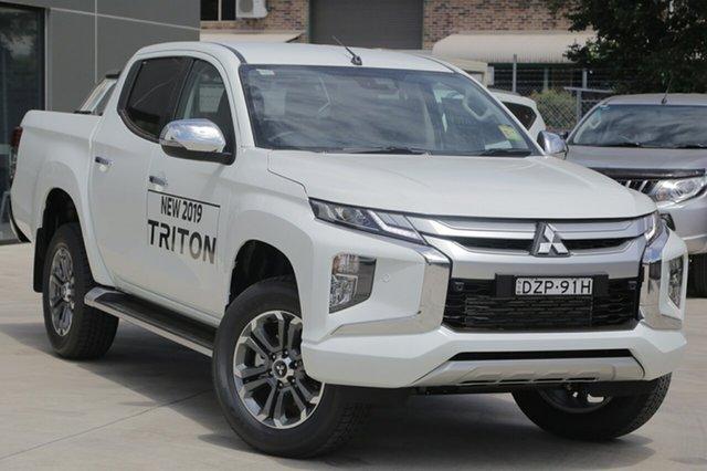 Demo Mitsubishi Triton MR MY19 GLS, 2018 Mitsubishi Triton MR MY19 GLS White 6 Speed Manual