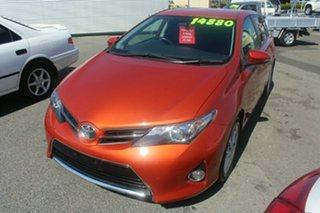 2014 Toyota Corolla ZRE182R Ascent Sport S-CVT Orange 7 Speed Constant Variable Hatchback
