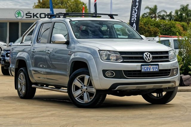 Used Volkswagen Amarok 2H MY14 TDI420 4Motion Perm Ultimate, 2013 Volkswagen Amarok 2H MY14 TDI420 4Motion Perm Ultimate Billet Silver 8 Speed Automatic Utility