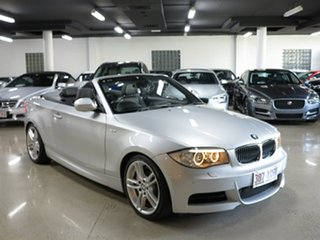 2012 BMW 1 Series E88 LCI MY0911 135i D-CT Silver 7 Speed Sports Automatic Dual Clutch Convertible.