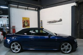 2014 Audi A5 8T MY15 S tronic quattro Blue 7 Speed Sports Automatic Dual Clutch Cabriolet.