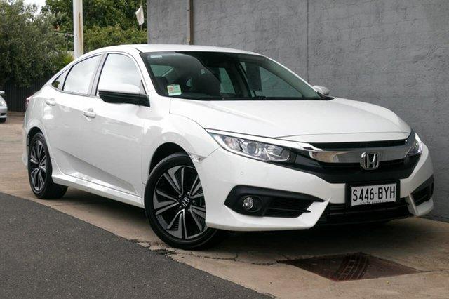 Demo Honda Civic 10th Gen MY18 VTi-L, 2018 Honda Civic 10th Gen MY18 VTi-L White Orchid 1 Speed Constant Variable Sedan