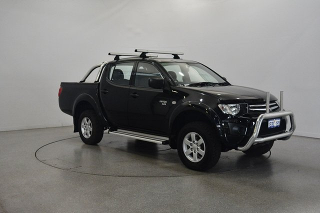 Used Mitsubishi Triton MN MY11 GLX Double Cab, 2011 Mitsubishi Triton MN MY11 GLX Double Cab Black 5 Speed Manual Utility