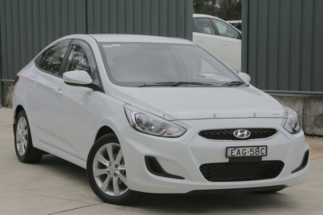 Demo Hyundai Accent RB6 MY18 Sport, 2018 Hyundai Accent RB6 MY18 Sport Chalk White 6 Speed Automatic Sedan