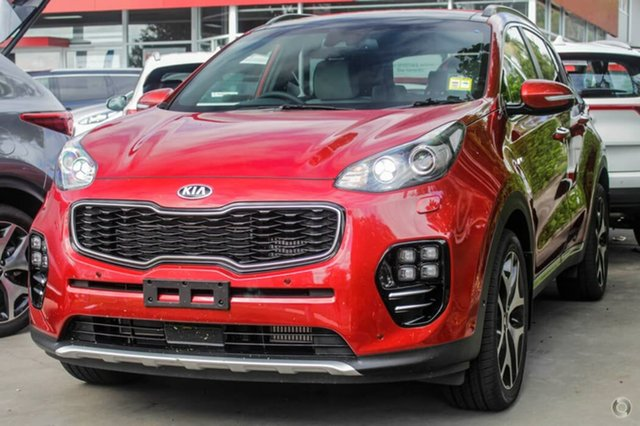 Demo Kia Sportage QL MY19 GT-Line AWD, 2018 Kia Sportage QL MY19 GT-Line AWD Fiery Red 8 Speed Sports Automatic Wagon