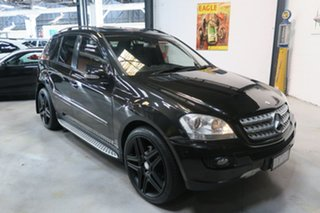 2008 Mercedes-Benz ML500 W164 MY09 Sports Luxury Black 7 Speed Sports Automatic Wagon.