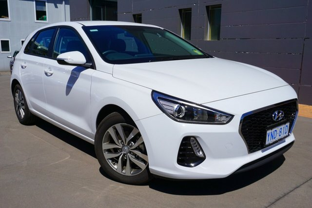 Demo Hyundai i30 PD2 MY19 Active, 2018 Hyundai i30 PD2 MY19 Active Polar White 6 Speed Sports Automatic Hatchback