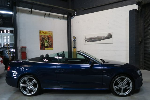 Used Audi A5 8T MY15 S tronic quattro, 2014 Audi A5 8T MY15 S tronic quattro Blue 7 Speed Sports Automatic Dual Clutch Cabriolet