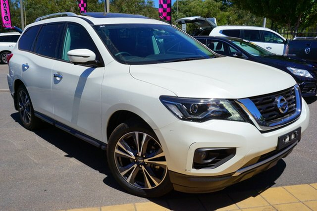 Used Nissan Pathfinder R52 Series II MY17 Ti X-tronic 4WD, 2018 Nissan Pathfinder R52 Series II MY17 Ti X-tronic 4WD White 1 Speed Constant Variable Wagon