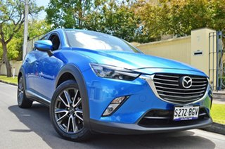 2015 Mazda CX-3 DK4W7A Akari SKYACTIV-Drive i-ACTIV AWD Metallic Blue 6 Speed Sports Automatic Wagon
