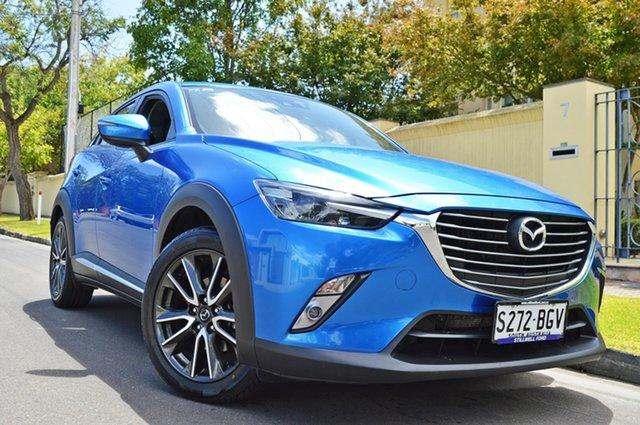 Used Mazda CX-3 DK4W7A Akari SKYACTIV-Drive i-ACTIV AWD, 2015 Mazda CX-3 DK4W7A Akari SKYACTIV-Drive i-ACTIV AWD Metallic Blue 6 Speed Sports Automatic Wagon