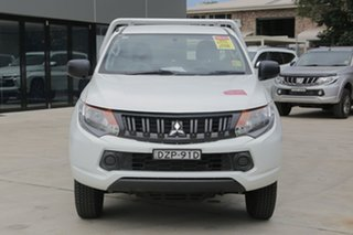 2018 Mitsubishi Triton MQ MY18 GLX White 5 Speed Manual Cab Chassis
